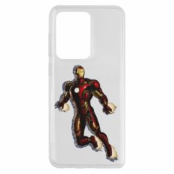 Чехол для Samsung S20 Ultra Iron man with the shadow of the lines