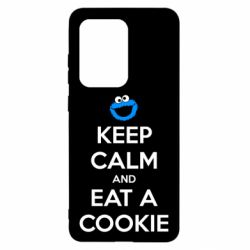 Чехол для Samsung S20 Ultra Keep Calm and Eat a cookie