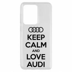 Чехол для Samsung S20 Ultra Keep Calm and Love Audi