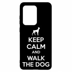 Чохол для Samsung S20 Ultra KEEP CALM and WALK THE DOG