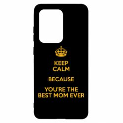 Чохол для Samsung S20 Ultra KEEP CALM because you're the best ever mom