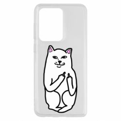Чехол для Samsung S20 Ultra Кот с факом
