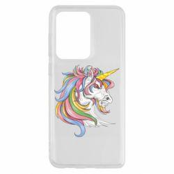 Чохол для Samsung S20 Ultra Кінь з кольоровою гривою