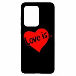 Чохол для Samsung S20 Ultra любов-це...