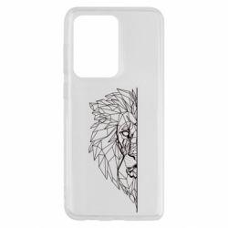 Чохол для Samsung S20 Ultra Low poly lion head