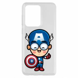 Чехол для Samsung S20 Ultra Маленький Капитан Америка