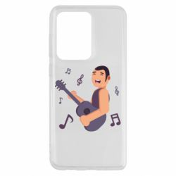 Чехол для Samsung S20 Ultra Man playing the guitar flat vector