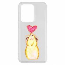 Чохол для Samsung S20 Ultra Морська свинка і сердечко