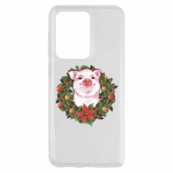 Чохол для Samsung S20 Ultra Pig with a Christmas wreath