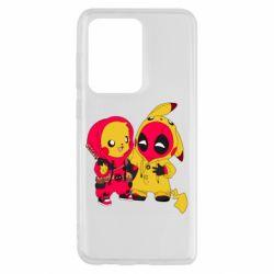 Чехол для Samsung S20 Ultra Pikachu and deadpool