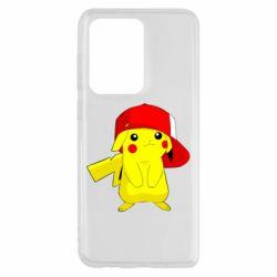 Чехол для Samsung S20 Ultra Pikachu in a cap