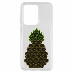 Чехол для Samsung S20 Ultra Pineapple cat