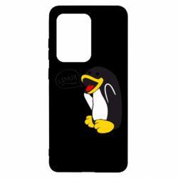 Чехол для Samsung S20 Ultra Пингвин Линукс