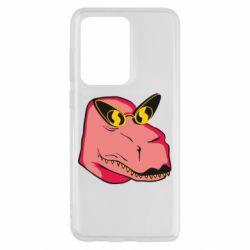 Чохол для Samsung S20 Ultra Pink dinosaur with glasses head
