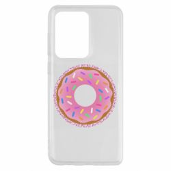 Чохол для Samsung S20 Ultra Pink donut on a background of patterns
