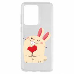 Чехол для Samsung S20 Ultra Rabbit with heart