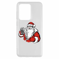 Чехол для Samsung S20 Ultra Santa Claus with beer