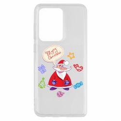 Чехол для Samsung S20 Ultra Santa says merry christmas