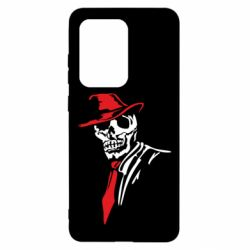 Чехол для Samsung S20 Ultra Skull in a hat with a tie