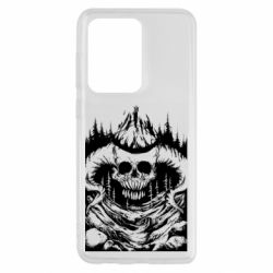 Чохол для Samsung S20 Ultra Skull with horns in the forest