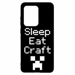 Чохол для Samsung S20 Ultra Sleep,eat, craft