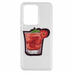 Чохол для Samsung S20 Ultra Strawberry cocktail on a background of flowers