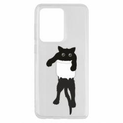 Чехол для Samsung S20 Ultra The cat tore the pocket