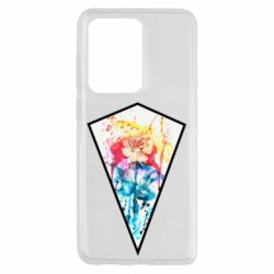 Чехол для Samsung S20 Ultra Watercolor flower in a geometric frame