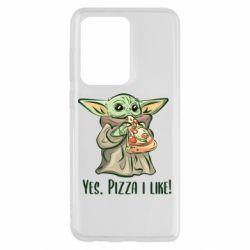 Чехол для Samsung S20 Ultra Yoda and pizza