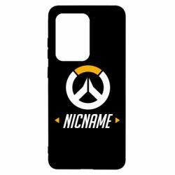 Чехол для Samsung S20 Ultra Your Nickname Overwatch
