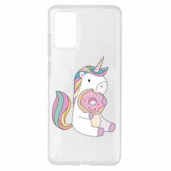 Чехол для Samsung S20+ Unicorn and cake