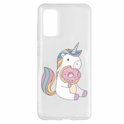 Чехол для Samsung S20 Unicorn and cake