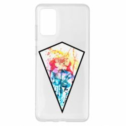 Чехол для Samsung S20+ Watercolor flower in a geometric frame