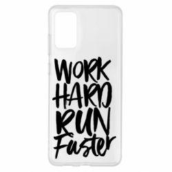 Чохол для Samsung S20+ Work hard run faster