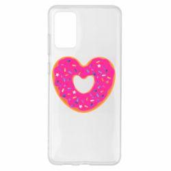 Чехол для Samsung S20+ Я люблю пончик
