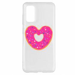 Чехол для Samsung S20 Я люблю пончик