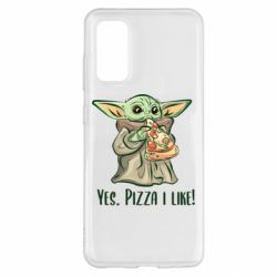 Чехол для Samsung S20 Yoda and pizza