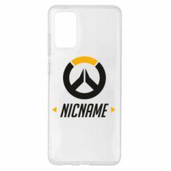 Чехол для Samsung S20+ Your Nickname Overwatch