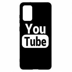 Чохол для Samsung S20+ Youtube vertical logo