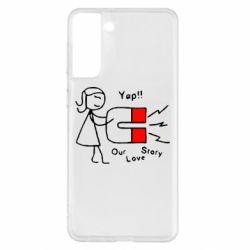 Чохол для Samsung S21+ Our love story2