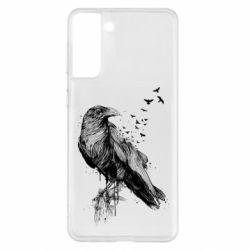 Чохол для Samsung S21+ A pack of ravens