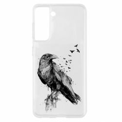 Чохол для Samsung S21 A pack of ravens
