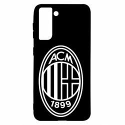 Чохол для Samsung S21 AC Milan logo