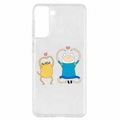Чохол для Samsung S21+ Adventure time