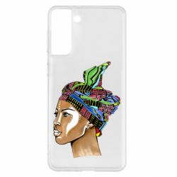 Чохол для Samsung S21+ African girl in a color scarf