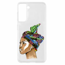 Чохол для Samsung S21 African girl in a color scarf