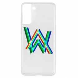 Чохол для Samsung S21+ Alan Walker multicolored logo