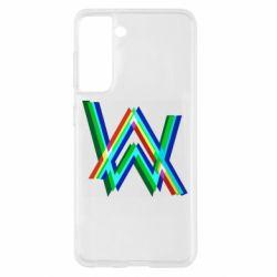 Чохол для Samsung S21 Alan Walker multicolored logo