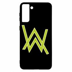Чехол для Samsung S21+ Alan Walker neon logo