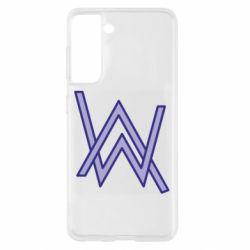 Чехол для Samsung S21 Alan Walker neon logo